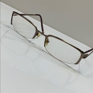 🌷Nine West Eyeglass Frame Half Rim Bronze 🌷